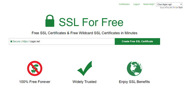 Khi cài đặt SSL người dùng cần tiến hành khai báo lại thông tin website