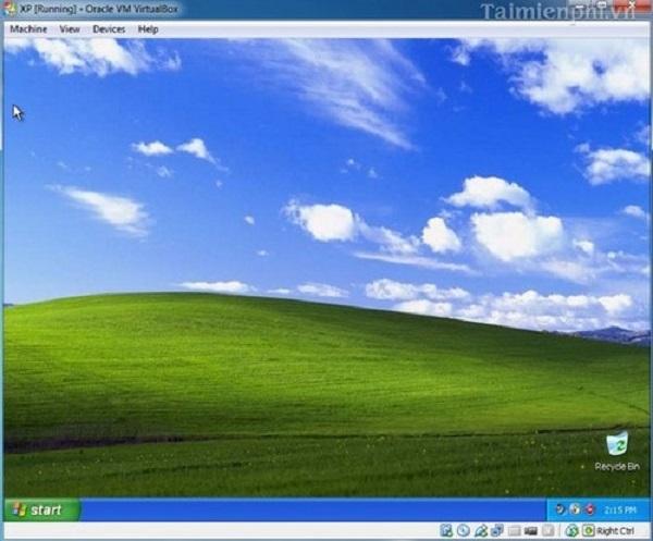 Thực hiện xong hoàn toàn các thao tác cài đặt máy ảo bằng VirtualBox