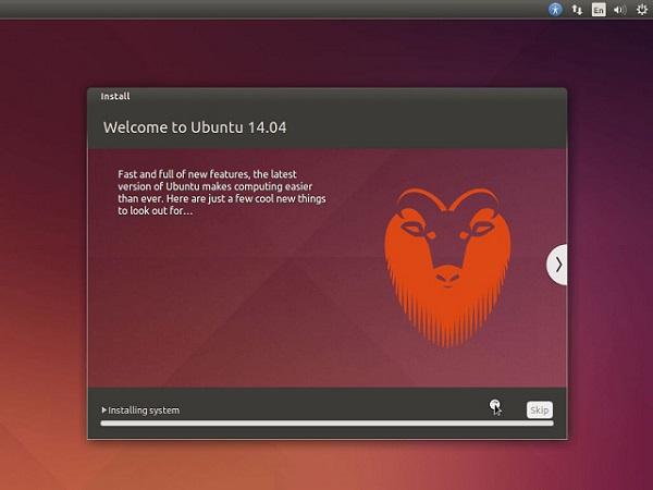 Cài đặt ubuntu thành công