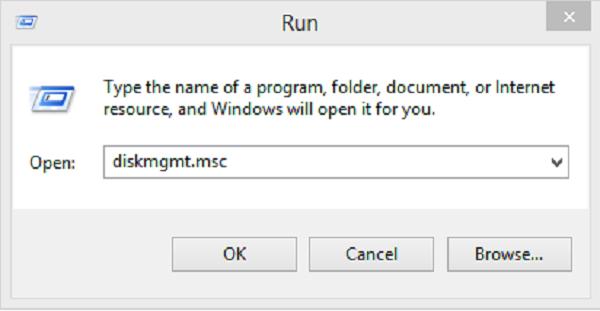 """Nhập """"diskmgmt.msc"""" vào bảng Run"""