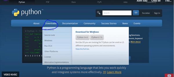 Tại mục Download for Windows lựa chọn phiên bản tải phù hợp