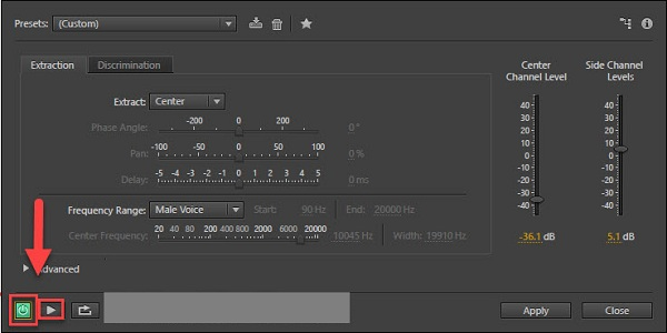 Bạn hãy click chuột vào biểu tượng tam giác để nghe lại và click Power để lưu thay đổi