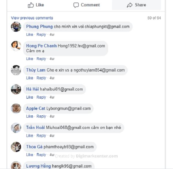 Truy cập bài viết chứa nhiều comment trên facebook