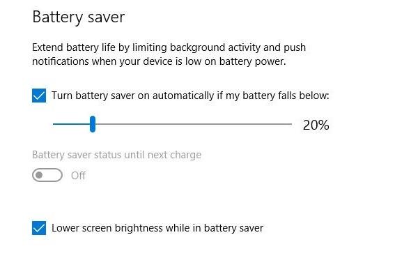 Bật tiết kiệm pin để bảo vệ tuổi thọ máy tính
